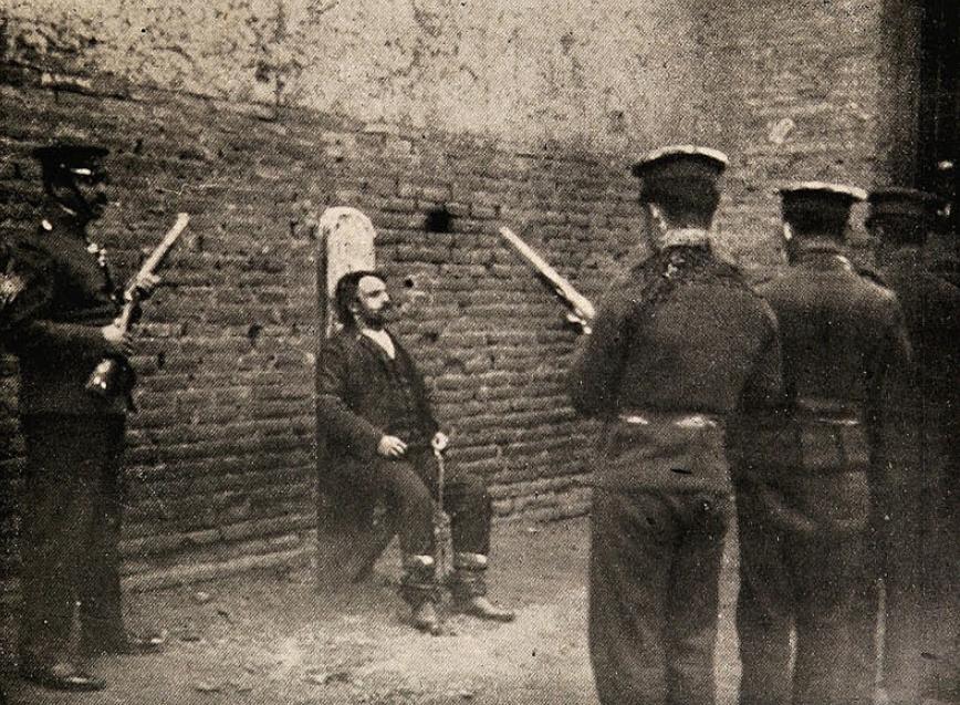 El fusilamiento tambien se realizaba frecuentemente en el siglo XX.